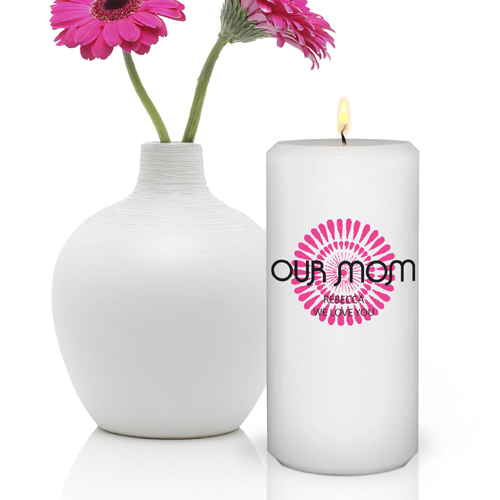 Custom Color Splashed Round Bouquet Candle GC390MD