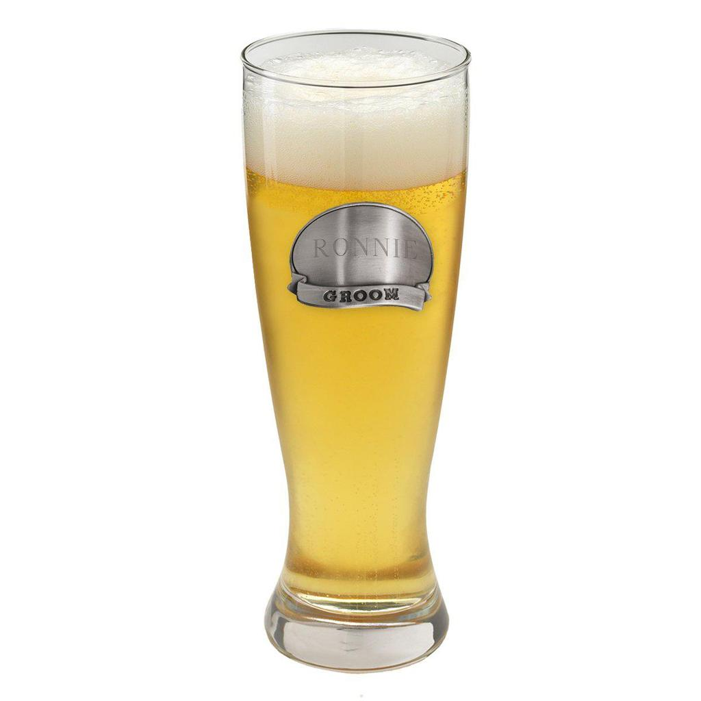 Engraved 20oz Groomsmen Grand Pilsner Glass GC404