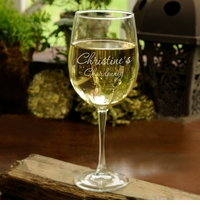 Connoisseur White Wine Frost Engraved 19oz Glass GC408