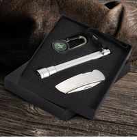 Engraved Sportsmens Gift Set With Penknife Flashlight Compass GC411