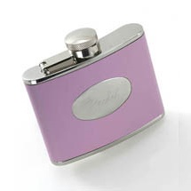 Engraved 4oz Sporty Pink Flask GC418pink