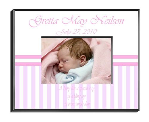 Personalized Baby Girl Picture Frame GC428Babygirl