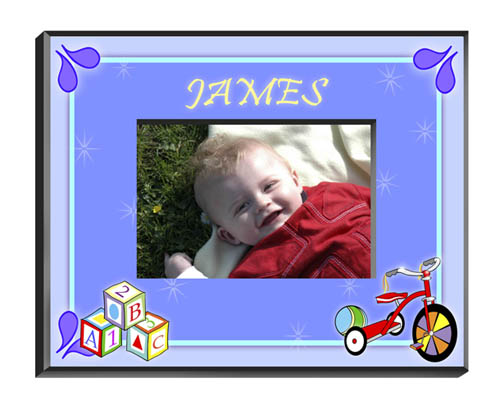 Personalized Baby Boy Picture Frame GC428Blocksboy