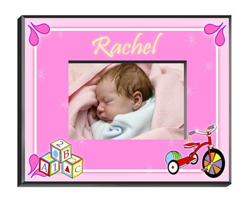 Personalized Baby Girl Picture Frame GC428Blocksgirl