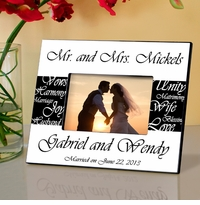 Mr and Mrs Personalized Wedding Frame Black and White GC430black