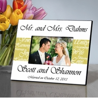 Mr and Mrs Personalized Wedding Frame Mustard Yellow GC430mustard