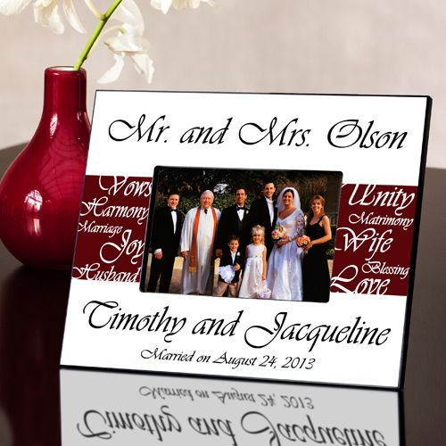 Mr and Mrs Personalized Wedding Frame Wine Red GC430wine