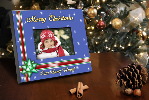 Personalized Blue Holiday Picture Frame GC436Blue
