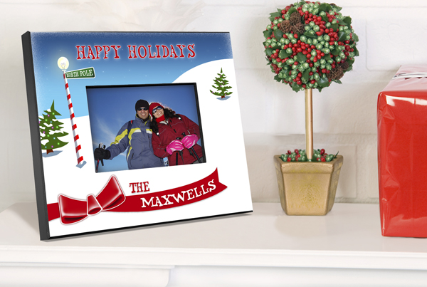 Personalized North Pole Holiday Picture Frame