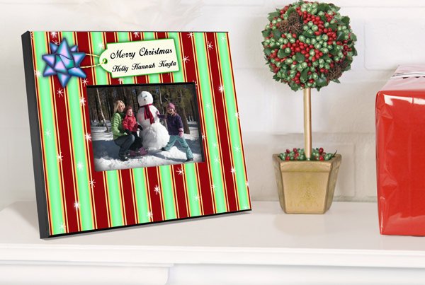 Personalized Green Stripes Picture Frame