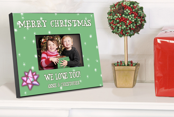 Personalized Green Holiday Picture Frame GC436green