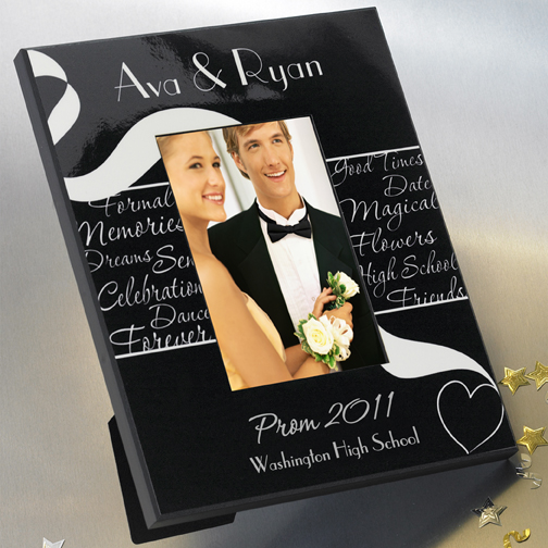 Personalized Black and White Prom Frame GC455