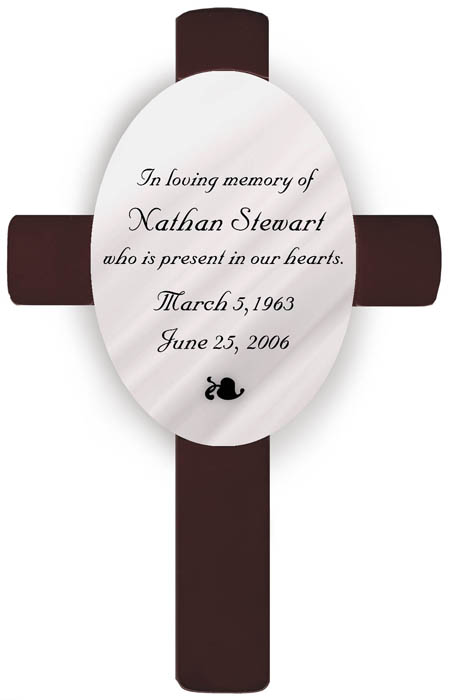 Classic Sympathy Memorial Engraved Cross
