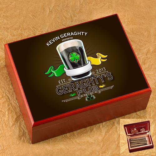 Personalized Premium Cherry Wood Humidor