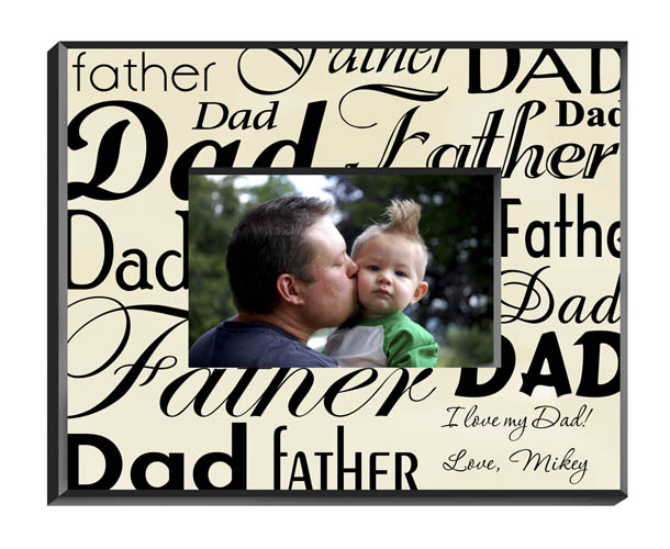 Parchment Father's Day Picture Frame