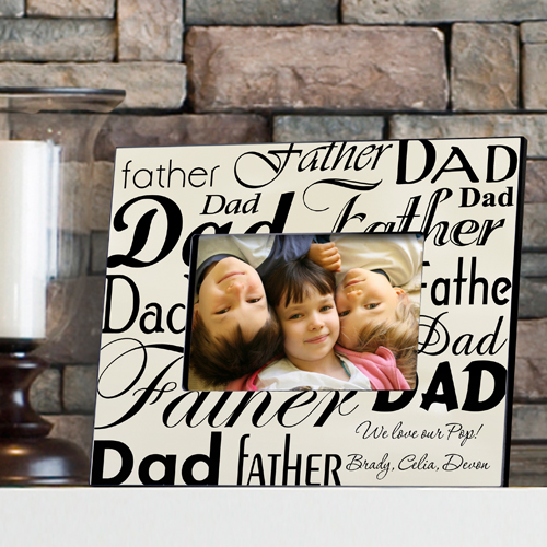 Personalized Fathers Day Picture Frame GC472