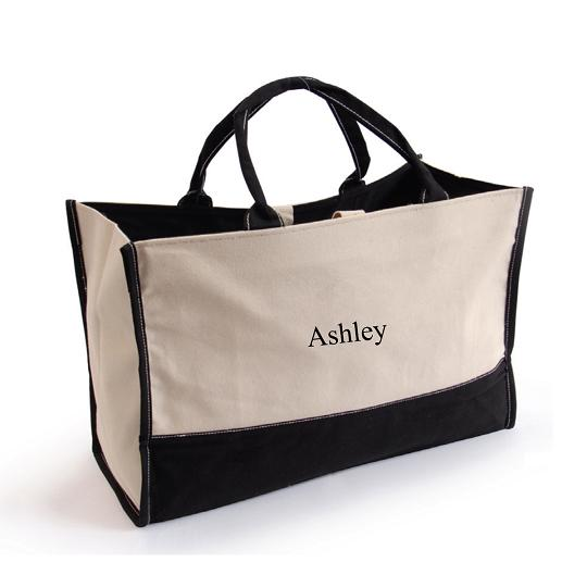 Personalized Metro Embroidered Large Tote Bag