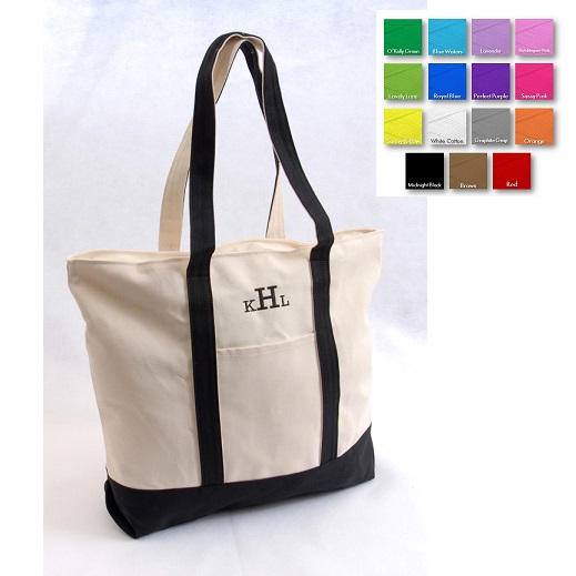 Personalized Beach Trip Embroidered Tote Bag GC506