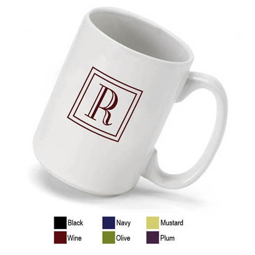 Monogrammed 15oz Coffee Mug GC511