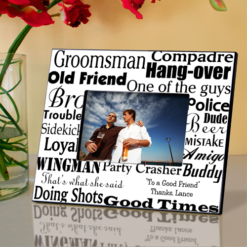 Personalized Groomsman Wedding Picture Frame GC514