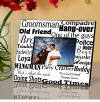 Personalized Wedding Picture Frame For Best Man GC514