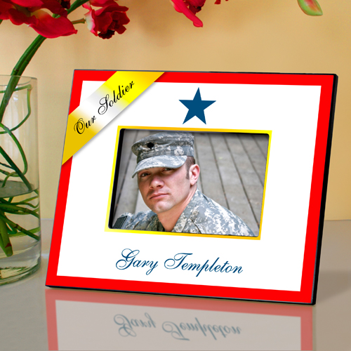 Horizontal Blue Star Military Picture Frame
