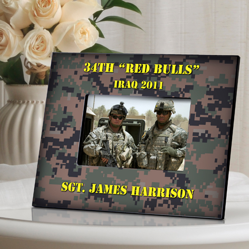 Horizontal Camouflage Military Picture Frame GC540H