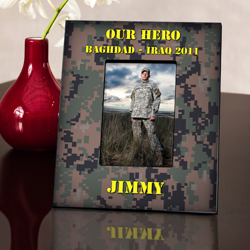 Vertical Camouflage Military Picture Frame GC540V