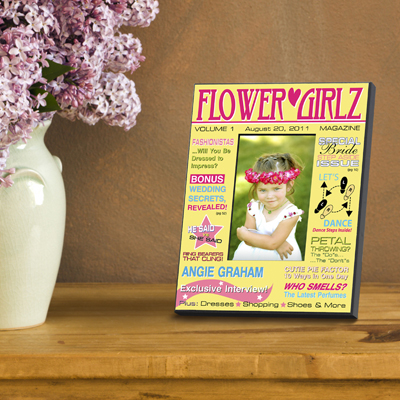 Personalized Flower Girl Magazine Cover Picture Frame