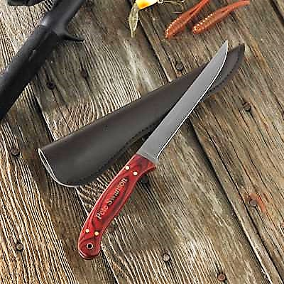 Engraved Authentic Wood Fishermans Filet Knife GC654