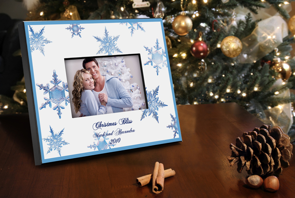Personalized Cristal Snowflake Picture Frame GC657cristal