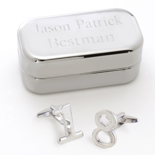 Lucky Numbers Cufflinks With Personalized Case GC658numbers