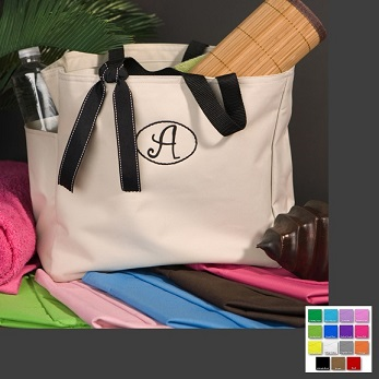 Custom Embroidered Smart Gal Avery Tote Bag