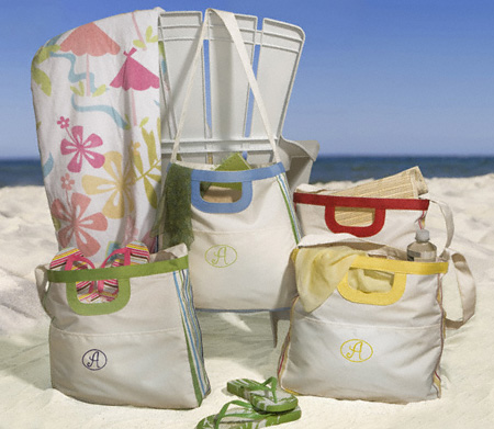 Personalized Cabana Style Embroidered Tote Bag GC679