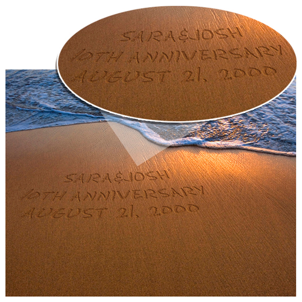 Personalized Shimmering Sand Creative Message Wall Print With Wood Frame GC713