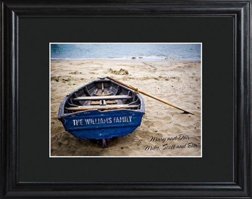 Personalized Family Name On Boat Wall Print With Wood Frame GC714your-family-name