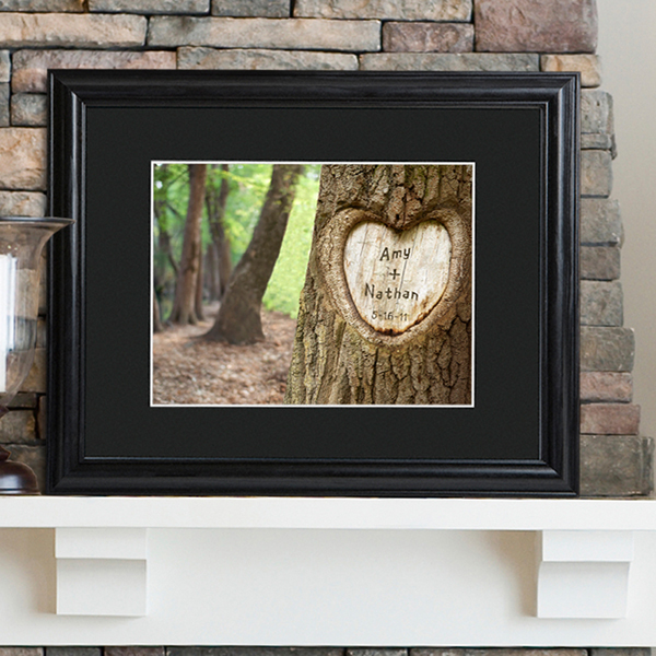 Tree Of Love Personalized Print and Black Frame GC715
