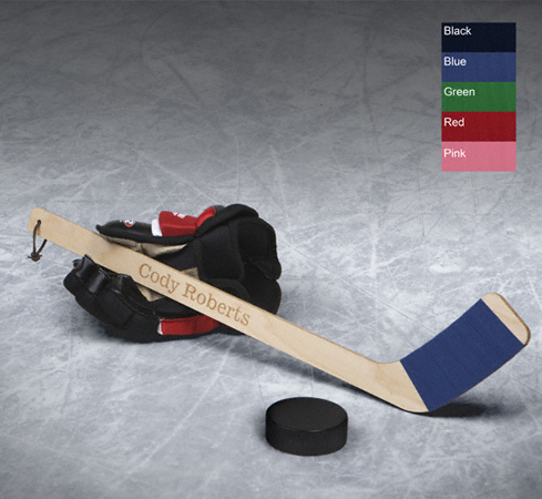 Personalized Mini Hockey Stick With Leather Strap GC723