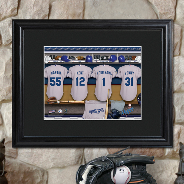 Custom MLB Clubhouse Matted Black Framed Print GC727