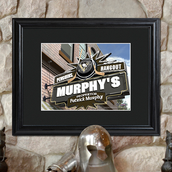Personalized NHL Wood Framed Wall Print GC731