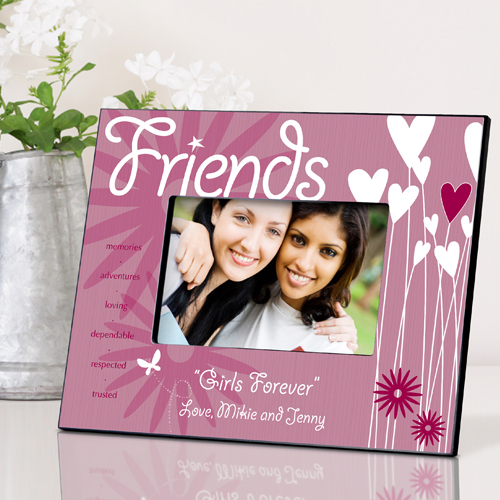 Personalized Hearts and Flowers Frame For Friends GC737friends
