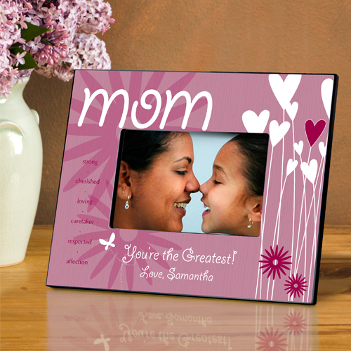 Personalized Hearts and Flowers Frame For Mom - Personalize at ...