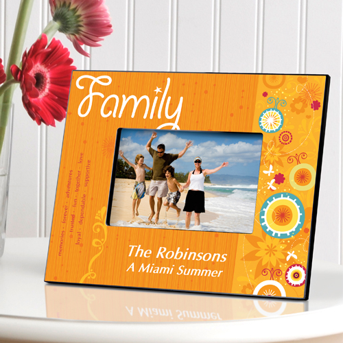Personalized Family Sunshine and Flowers Picture Frame GC740family