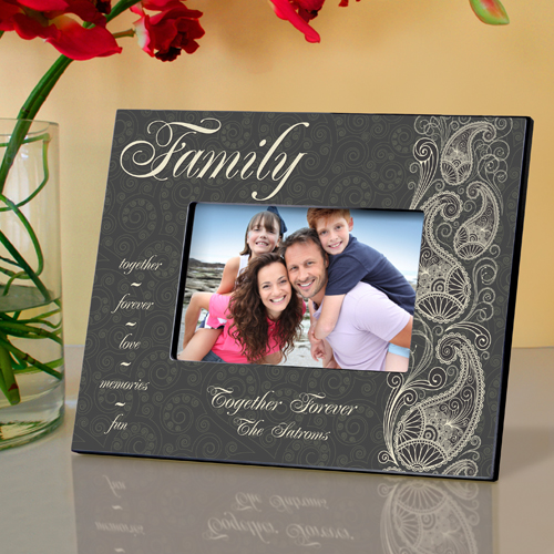 Paisley Personalized Picture Frame For Family GC742family