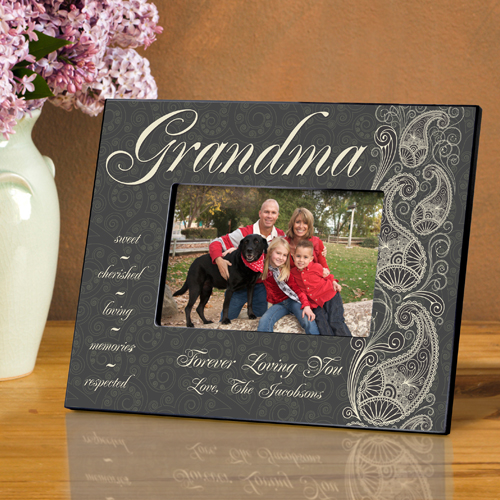 Paisley Personalized Picture Frame For Grandma