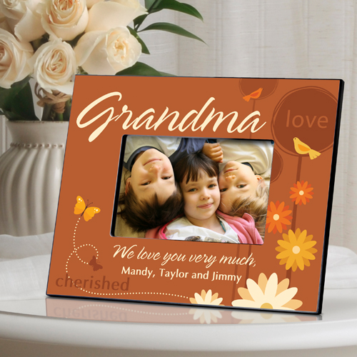 Springtime Personalized Picture Frame For Grandma Personalize At