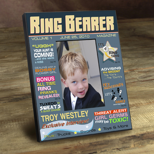 Personalized Ring Bearer Magazine Cover Frame