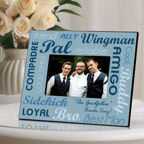 Personalized Guys Wedding Party Picture Frame - Personalize at ...