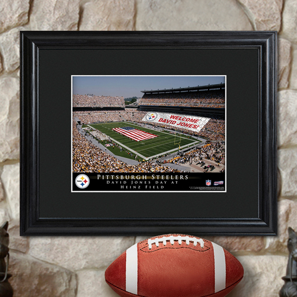 Personalized NFL Stadium Wood Framed Print GC756