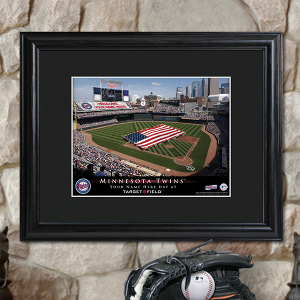 Custom MLB Stadium Black Framed Print GC757